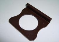 Ручка москитная с круглым отверстием коричневая