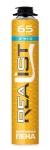 Пена монтажная REALIST 65 литров зима оранжевый