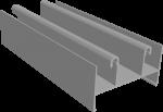 C640/01L Профиль рамы верхний, облегчённый