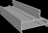 C640/35L Профиль рамы широкий 37х60 мм