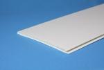 Панель ПВХ матовая белая 390 мм 6 метров