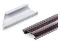 Ручка балконная металлическая ракушка коричневая