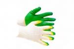 Перчатки трикотажные с 2-м латексным обливом (зеленые)