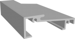 Порог алюминиевый 58 мм