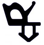 Резиновый уплотнитель Rehau (865002) черный