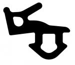 Резиновый уплотнитель Veka 253 черный