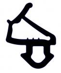 Резиновый уплотнитель Veka 254 черный
